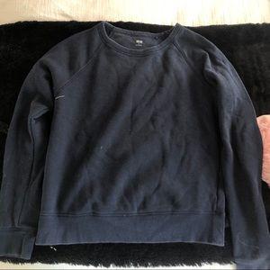 Uniqlo Navy Blue Crewneck Sweatshirt